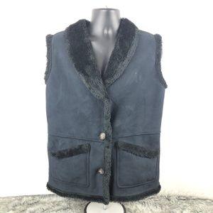 Tsunami Womens Fur Black Fur Vest Jacket